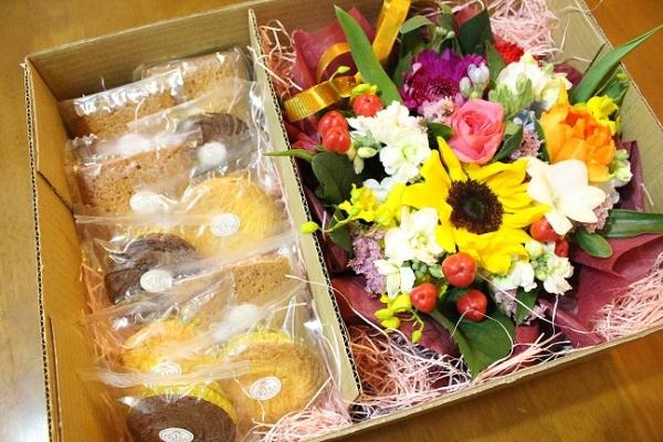 洋菓子とお花セット